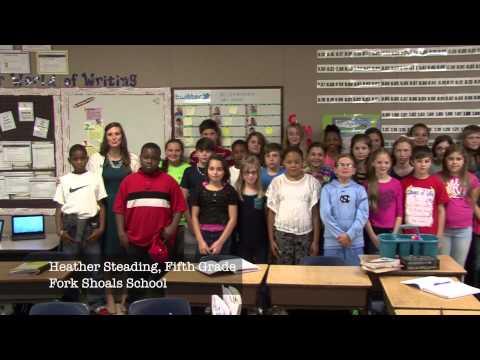 Heather Steading, Fifth Grade, Fork Shoals School