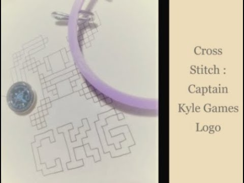 Cross Stitching Captain Kyle Game's Logo