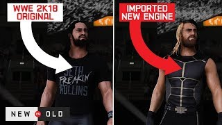 WWE 2K18: Old Models, New Engine (Do They Look Better?)
