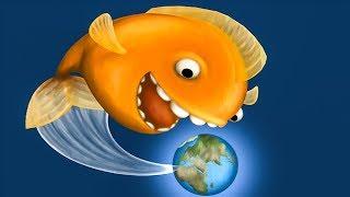 Суровая ЗОЛОТАЯ РЫБКА съела всех в океане. ИГРА Tasty Blue #1 на Игрули TV
