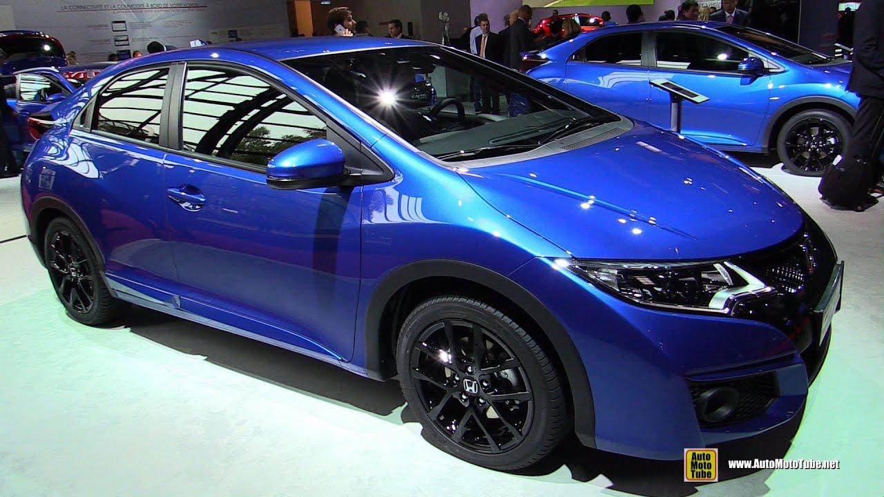 honda civic sport navi diesel exterior  interior walkaround  paris auto show