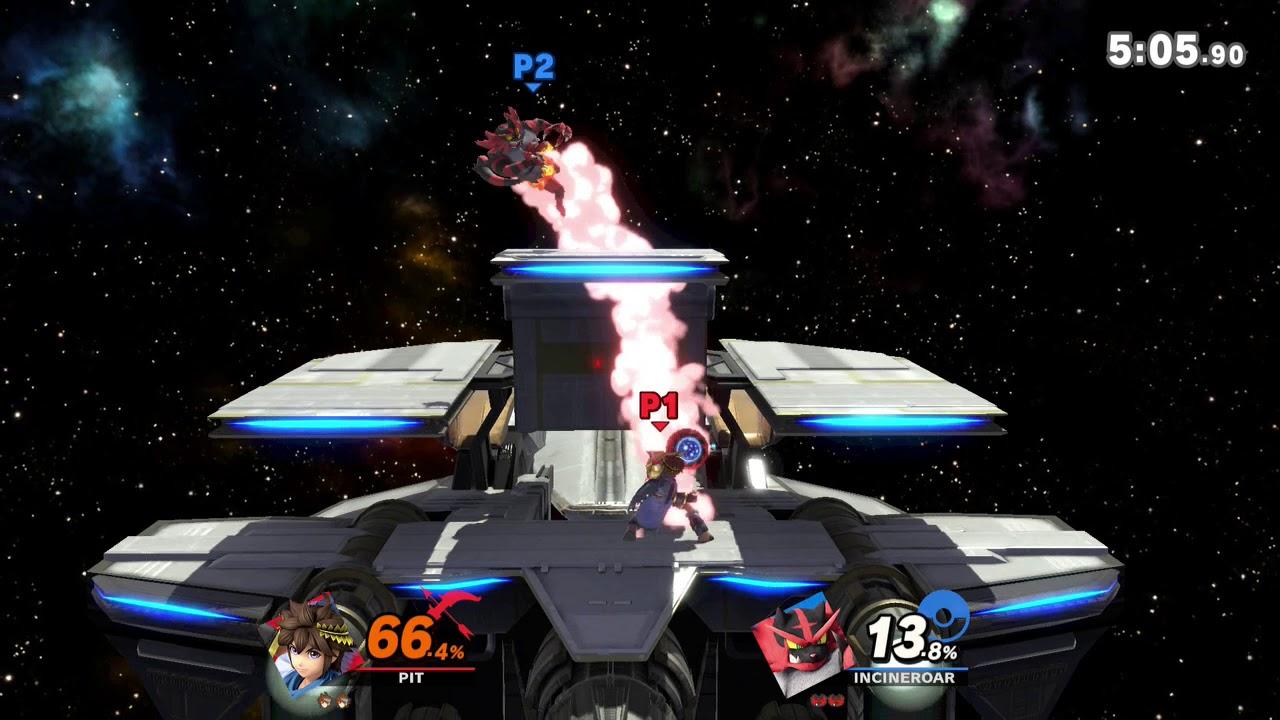 Super Smash Bros  Ultimate Elite! J-AERIAL (Pit) VS Incineroar