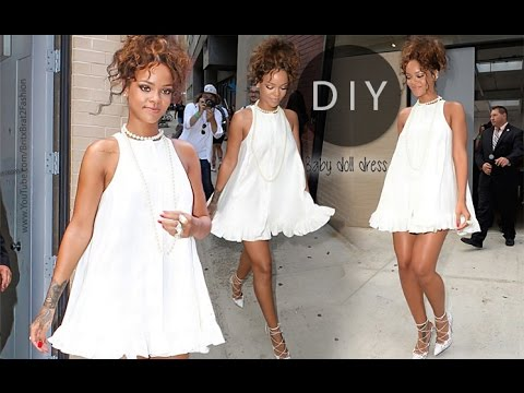 DIY Baby Doll Dress (Rihanna inspired)  sc 1 st  YouTube & DIY Baby Doll Dress (Rihanna inspired) - YouTube