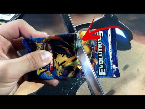 Thumbnail: CUTTING BOOSTER PACKS IN HALF WITH AN ELECTRIC KNIFE!