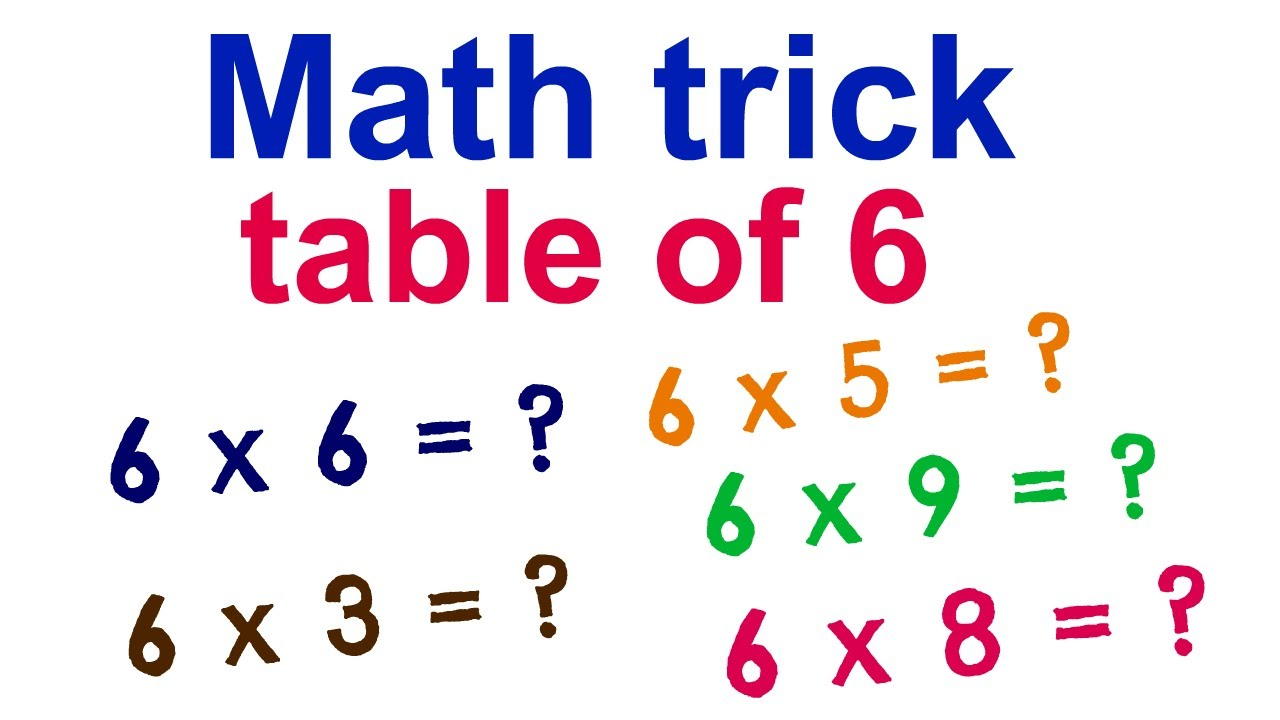 math trick to learn table of 6 youtube