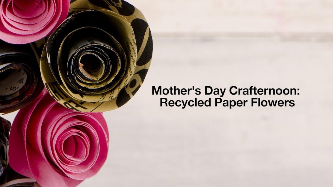 Video Lush Diy Recycled Paper Flowers Lush Fresh Handmade
