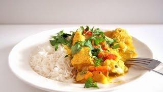 Curry de pollo con leche de coco - Cocina para Urbanitas