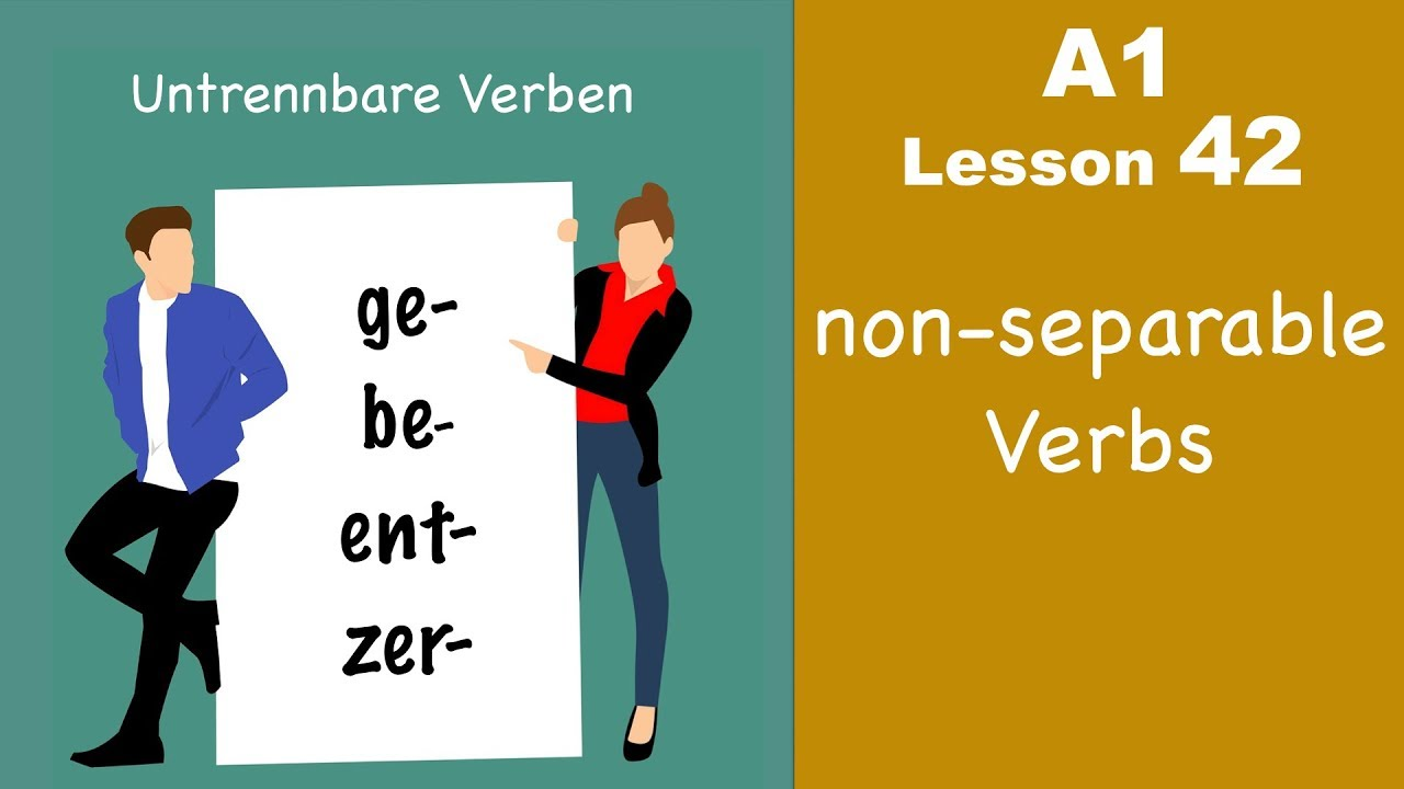 Learn German | untrennbare Verben | German for beginners | A1 - Lesson 42