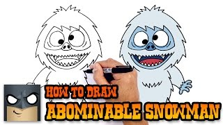 How to Draw Abominable Snowman | Christmas Drawing Lesson