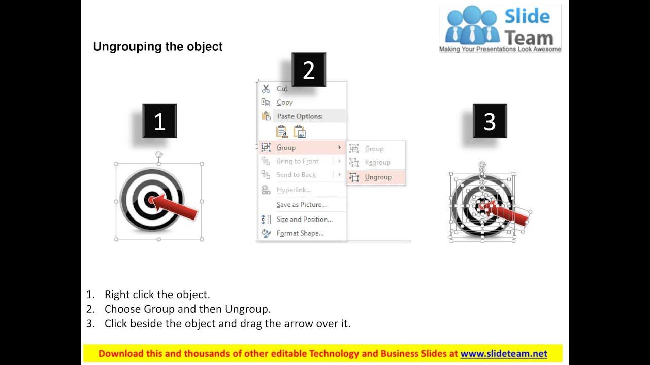 target dart and arrow for achievement powerpoint template - youtube, Achievement Presentation Template, Presentation templates