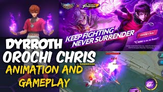 DYRROTH OROCHI CHRIS KOF SKIN ANIMATION AND IN-GAME EFFECTS   MOBILE LEGENDS