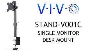 STAND-V001C Single Monitor Desk Mount by VIVO