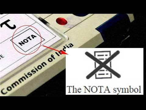 NOTA symbol on EVM to debut in state assembly polls