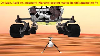 Ingenuity helicopter/first flight to be flown in mars