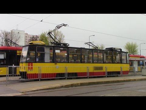Trams in Warsaw Route 28 Dworzec Wschodni ⇒ Os. Górczewska Konstal 105Na