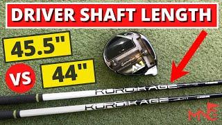 Driver Shaft Length - Is Shorter Better Than Standard Length?