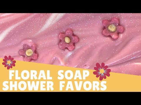 Making Floral Soap Shower Favors 🌸 | GYPSYFAE CREATIONS