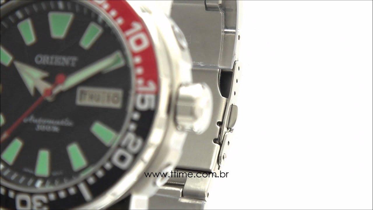 c2b88f61779 Relógio Orient Automático Scuba Diver 469SS039 PVSX - YouTube