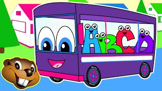 The Wheels On The Bus | Purple Bus Version | Kids Nursery Rhymes | Children's Learning Songs