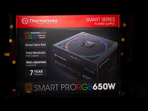 Thermaltake Smart Pro RGB 650W Fully Modular Power Supply Unboxing