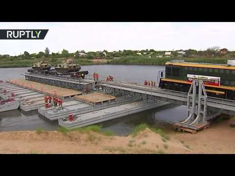RAW: Armored train drills resume in Russia for first time in 15 years