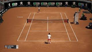 AO International Tennis - Novak Djokovic vs Rafael Nadal - PS4 Gameplay