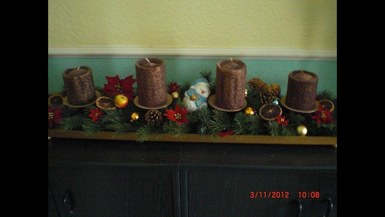 weihnachten adventskranz adventsgesteck selber machen anleitung immer wieder verwendbar. Black Bedroom Furniture Sets. Home Design Ideas