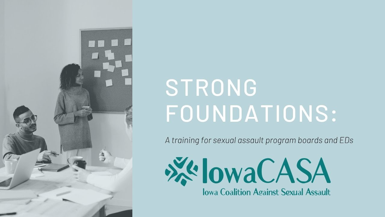 Strong Foundations: A training for sexual assault program boards