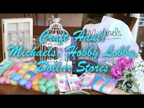Craft haul michaels hobby lobby dollar tree 99 cent for Michaels craft store watches