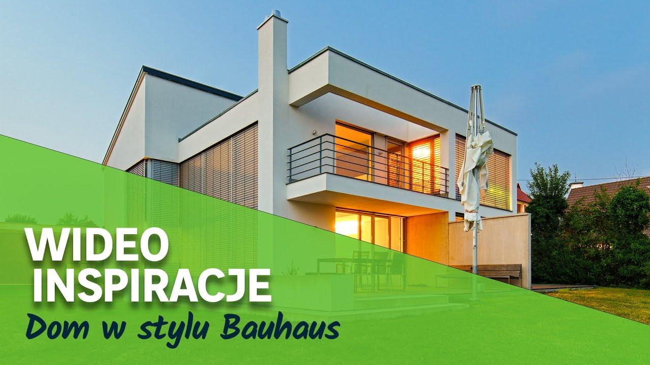 Dom w stylu Bauhaus. Przedstawia Dom z pomysłem