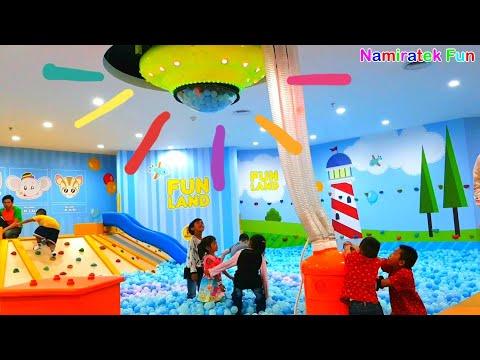 Ocean a lot of ball pit show at Fun Station Kids Indoor Playground Balls Pit Shower