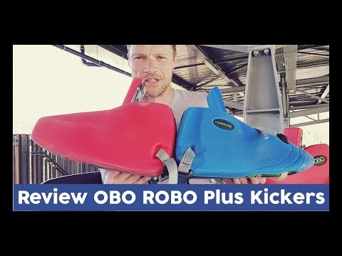 Goalie Review OBO ROBO Plus Kickers - Dennis Hockeyvlog #5   HockeyheroesTV