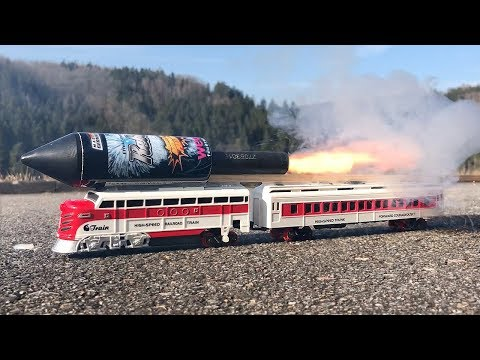 Rocket powered RC Train !! Speed Launch Toy Railway