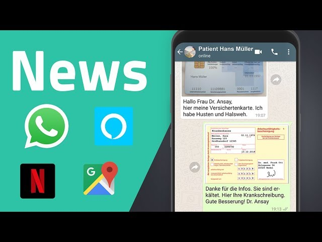News zu WhatsApp, Alexa, Google, Hackerangriff, Netflix