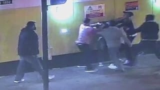 Shocking CCTV: Gang members attack foreign student