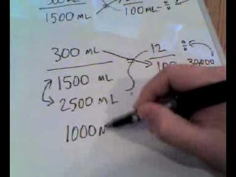Pharmacy Dilution Math