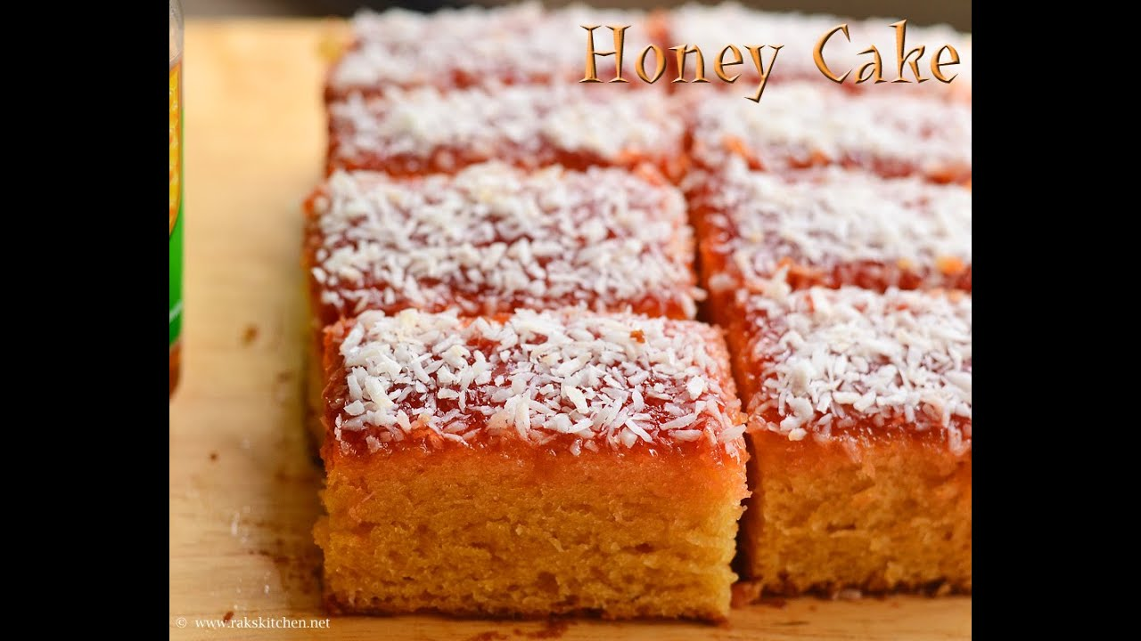 Eggless Honey Cake Recipe Indian