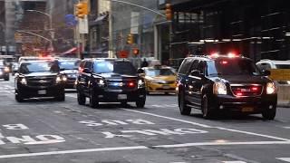 Secret Service Motorcade Melania Trump arriving at Trump Tower in New York!