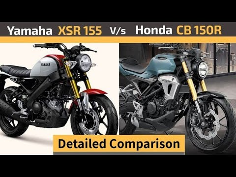 Yamaha Xsr 155 Vs Honda Cb 150r Streetster Detailed Comparison Xsr 155 Vs Cb 150r K2k Motovlogs Youtube
