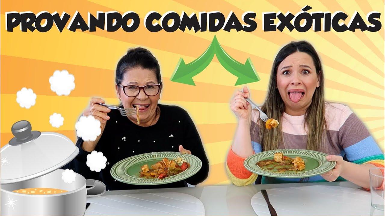 PROVANDO COMIDAS EXÓTICAS DO DELIVERY com MAINHA!
