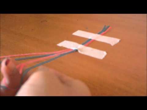 Как сплести легкую фенечку