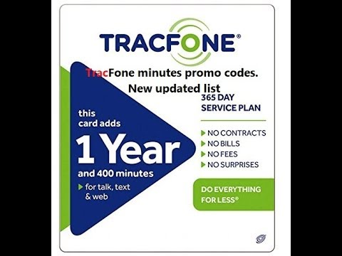 TracFone minutes promo codes