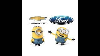 Chevrolet vs ford minions style (Funny)