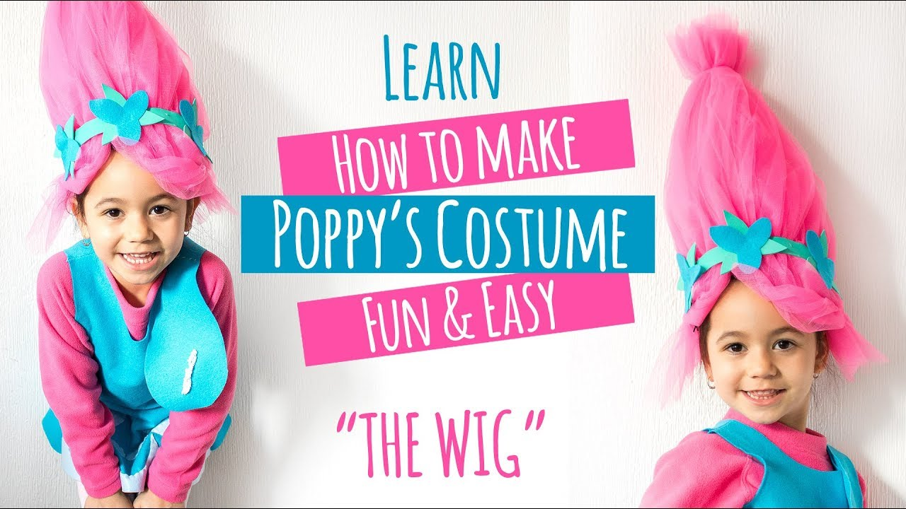 Diy Trolls Poppy Costume The Wig Youtube