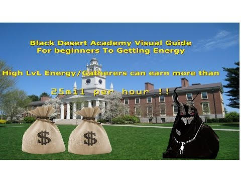 Black Desert Online|BDA- Beginners Visual Guide to getting Energy for Gathering