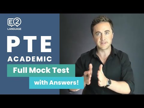 LIVE Full PTE Academic Mock Test with Answers: #1 with Jay!