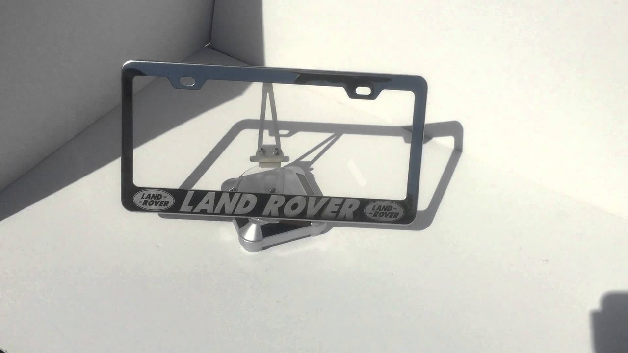 Land Rover Laser Engrave Polish Stainless Steel License Plate Frame ...