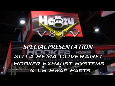 Hooker LS Swap Exhaust Systems And Engine Mounts at SEMA 2014 Video V8TV