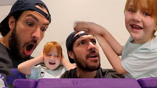 TRAPPED INSiDE the iPAD?!  Adley &amp Dad play a new family game! and beach visit! my town app review