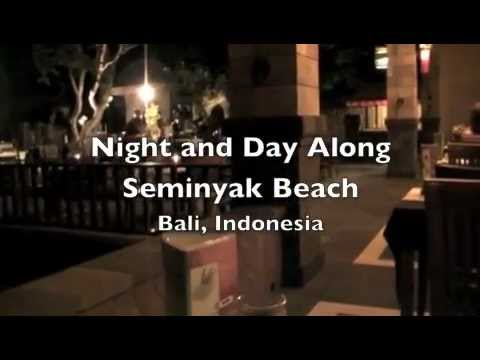 Night and Day Along Seminyak Beach, Bali
